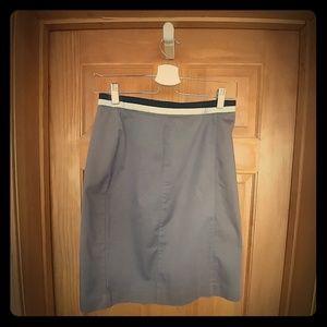 Brown skirt, banded waist